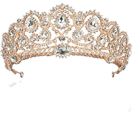 Amazon.com: Rhinestone Crystal Bridal Crowns Tiaras Prom Queen Crown Pageant Crowns Princess Crown for Women, Rose Gold: Beauty