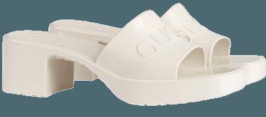 Gucci Rubber Logo Platform Slide Sandal (Women) | Nordstrom