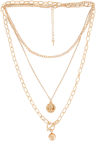 Amber Sceats Layered Chain Necklace