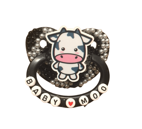 Cow deco adult paci | Etsy