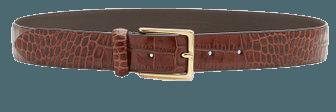 Croc-Effect Glazed Leather Belt By Anderson's   Moda Operandi