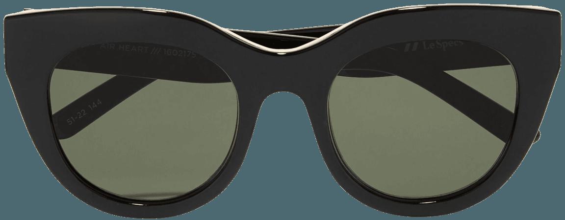 Black Air Heart cat-eye acetate and gold-tone sunglasses | Le Specs | NET-A-PORTER