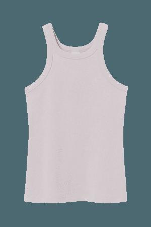 Ribbed Tank Top - Light lavender - Ladies   H&M US
