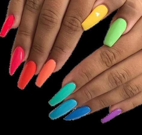 Rainbow Nails