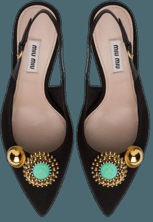 Miu Miu Embellished Slingback Pumps - Farfetch