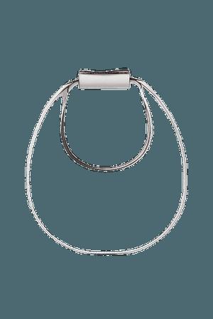 Moon Mini Leather Tote - White