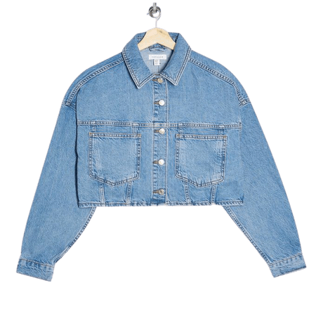 Mid Blue Cropped Denim Jacket | Topshop