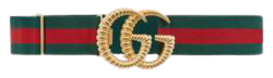 Green And Red Web Elastic Belt With Torchon Double G Buckle | GUCCI® US