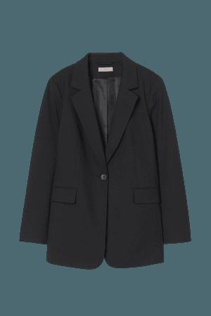 Single-breasted Jacket - Black - Ladies   H&M US