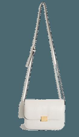 bag white bag crossbody bag celine bag boxy bag shoulder body bag everyday bag ivory bag