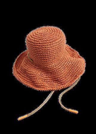 Crochet straw hat - Women   Mango USA