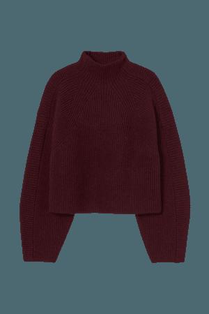 Turtleneck jumper - Dark red - Ladies | H&M