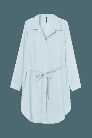 Short Shirt Dress - Turquoise
