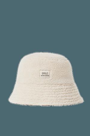 Faux Fur Bucket Hat - Cream - Ladies | H&M US