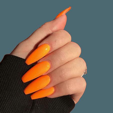 orange acrylic nails - Google Search