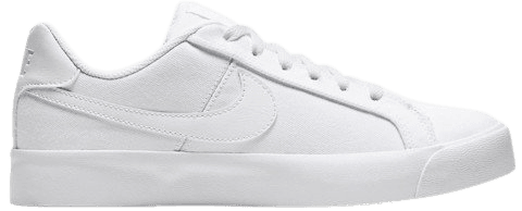 Nike Court Royale AC canvas sneakers in triple white | ASOS