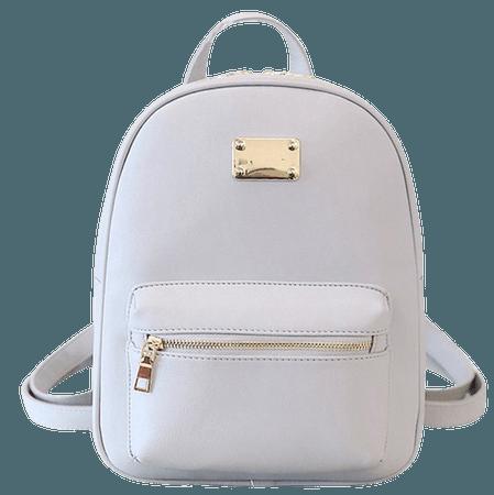 White Travel Backpack