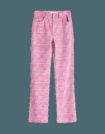Straight pants with print - Pants - Woman | Bershka
