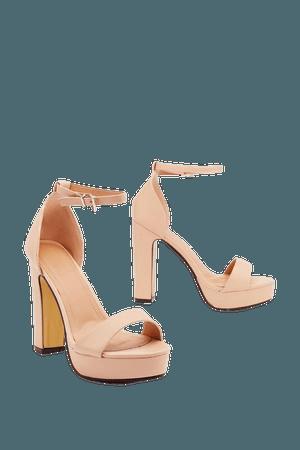 Faux Leather Block Platform Heels | Nasty Gal