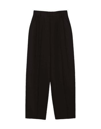 Wide-leg pants - Pants - Woman | Bershka