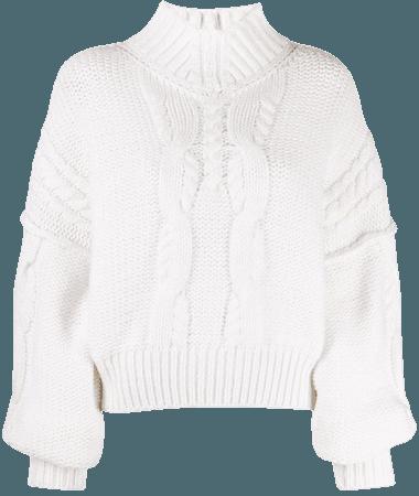 IRO cable knit merino-blend jumper - FARFETCH