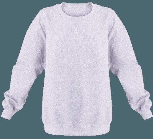 Grey Marl Ultimate Oversized Sweater   PrettyLittleThing