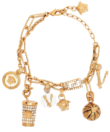 Versace charm-detailed cable-link bracelet - FARFETCH