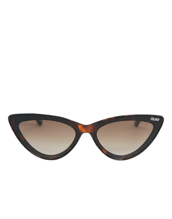 Quay Flex womens cat eye sunglasses in black | ASOS
