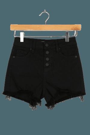 Cute Black Shorts - High Rise Shorts - Mom Shorts - Denim Shorts - Lulus