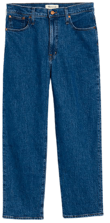 The Perfect Vintage Straight Crop Jean in Edendale Wash