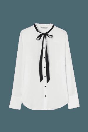 Tie-collar Blouse - White - Ladies | H&M US