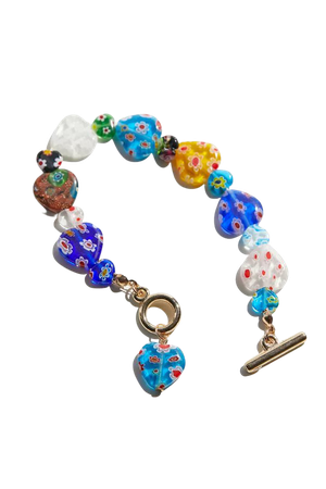 Glass Heart Toggle Bracelet | Urban Outfitters