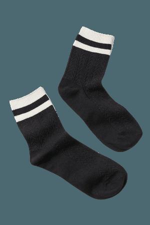 Sweater Stripe Crew Sock | Urban Outfitters