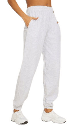 Ash Grey Casual Jogger | Trousers | PrettyLittleThing