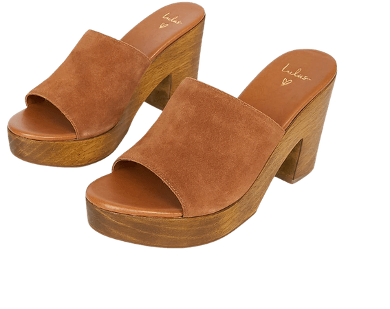 Cute Brown Sandals - Platform Sandals - Slide Sandals - Lulus