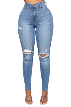 Our Favorite High Rise Skinny Jeans - Medium Blue Wash – Fashion Nova