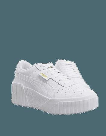 Puma Cali Wedge sneakers in white   ASOS