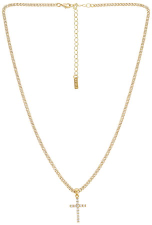 Natalie B Jewelry Korsa Cross Necklace in Gold | REVOLVE