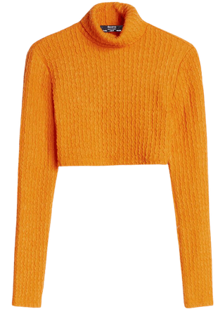 Cropped turtleneck sweater - Sweaters and Cardigans - Woman | Bershka