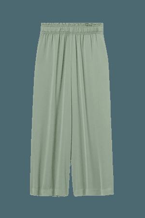 Crop Pull-on Pants - Sage green - Ladies   H&M US