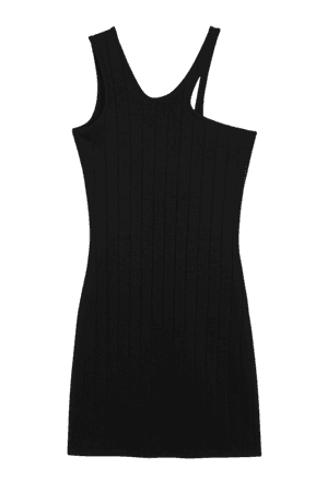Abstract strap bodycon dress - Black - Mini dresses - Monki WW
