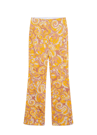 Printed cotton pants - Women   Mango USA