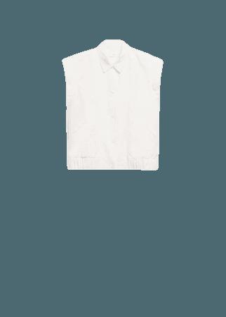 Oversized denim vest - Women | Mango USA