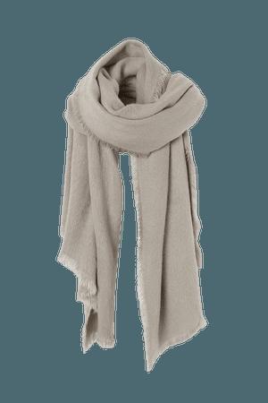 Fluffy Scarf - Gray