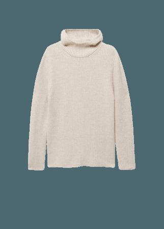 Hooded knit sweater - Women | Mango USA