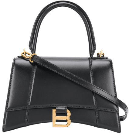 Black Balenciaga Hourglass S tote bag - Farfetch