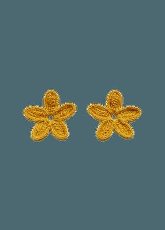 Crochet cotton earrings - Woman | Mango Slovakia