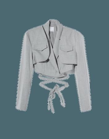 Detachable vest blazer - Outerwear - Woman | Bershka