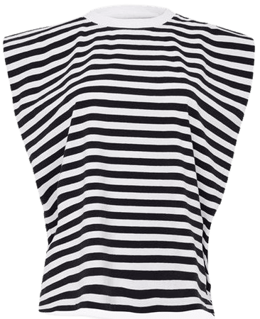 Shoulder Pad Stripe Tank Top | New Arrivals | French Connection Usa