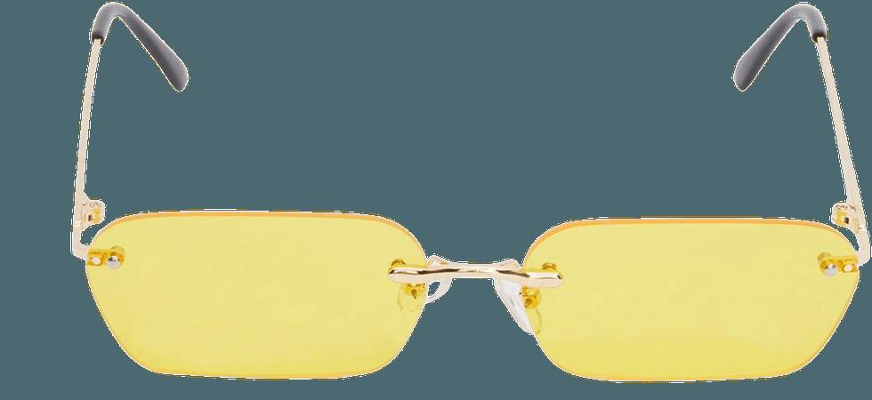 Electric Godless Gaze Frameless Sunglasses | Dolls Kill